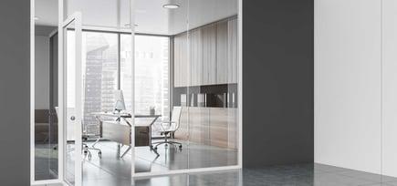 Glasskontor åpner opp kontorlandskapet