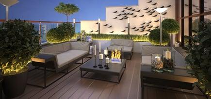 Forleng utesesongen på terrassen med levegg i glass