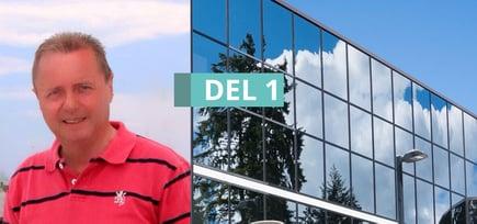 Tidligere ingeniør hos Pilkington, Tore Tronrud, forteller om Glassfasader - Del 1