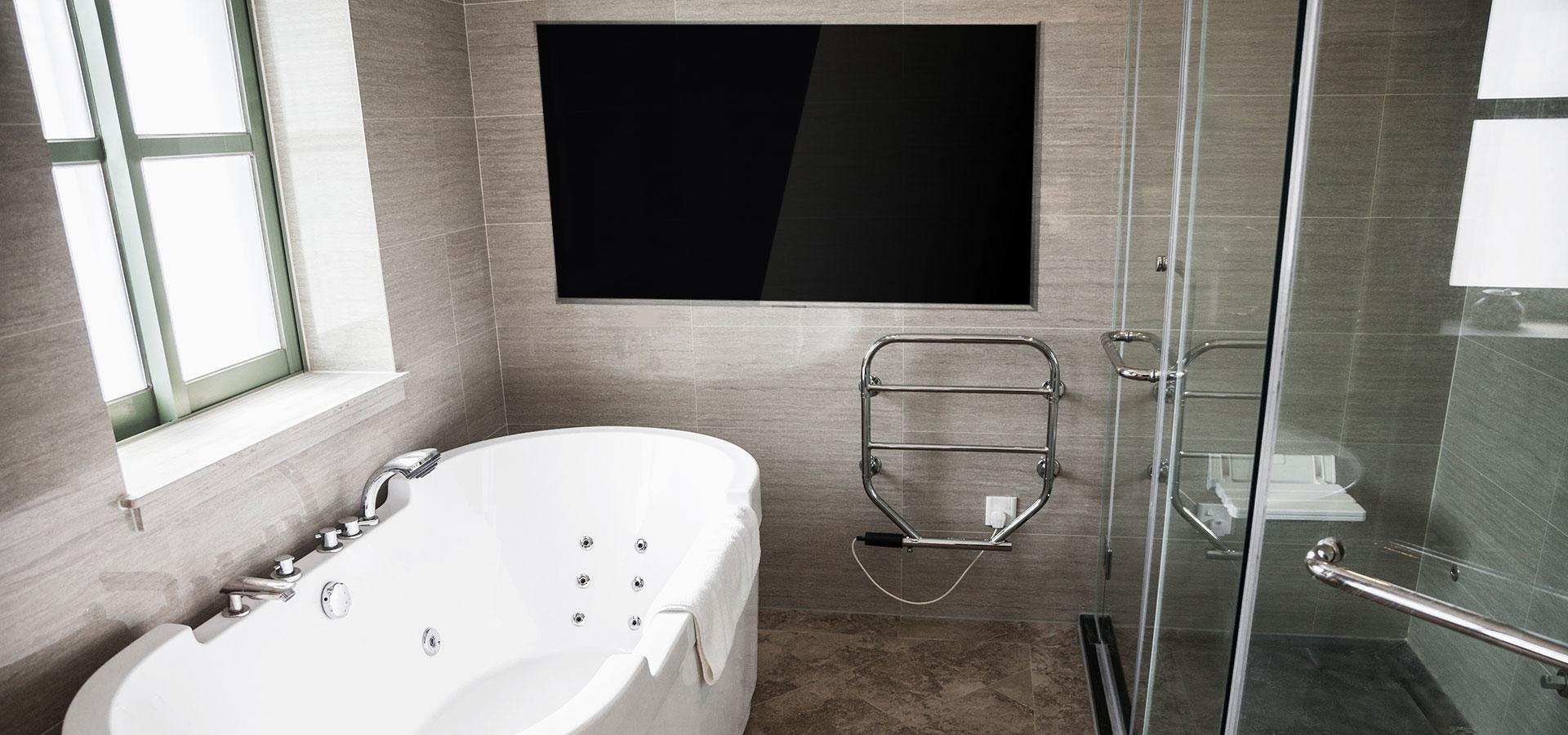 Se på TV – mens du dusjer