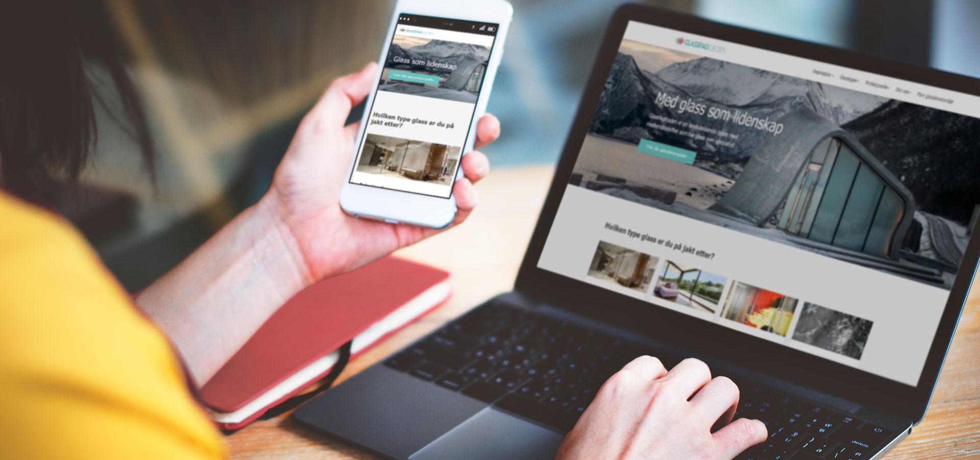 Nettsider for glassbedrifter – dette bør du vite
