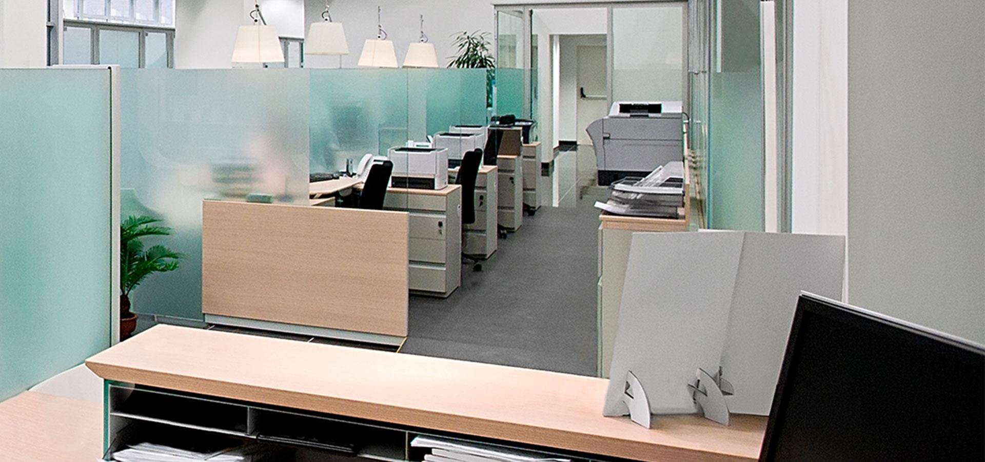 5 fordeler med skillevegger i glass i åpent kontorlandskap