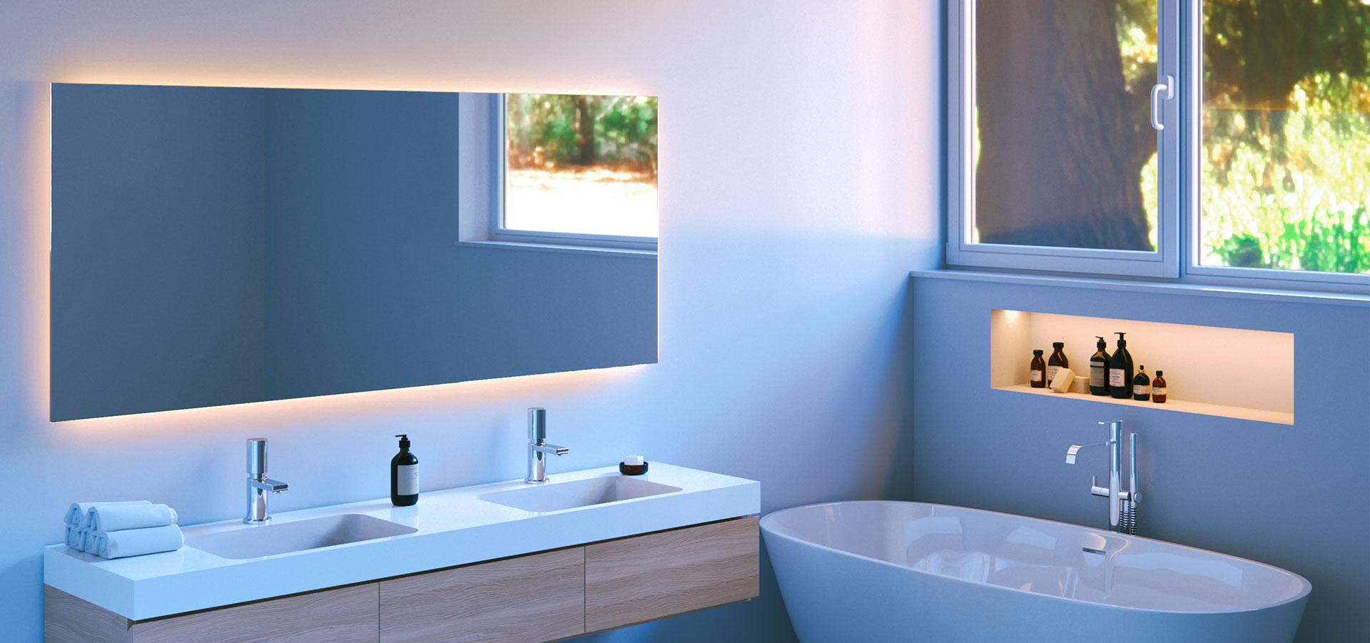 Inspirasjon til hjemmet: store speil