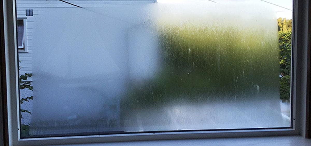 Dugg på utsiden av vinduene? Løsningen er antikondens-glass!